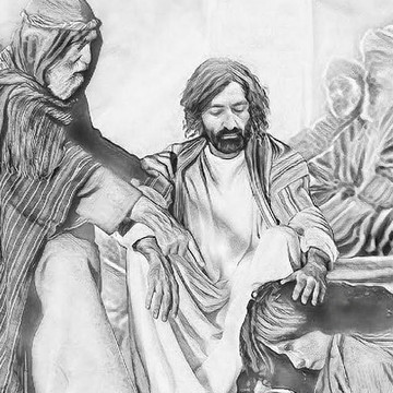 Drawings of Christian Biblical Art From Sketchbooks of Todd L Thomas Collection