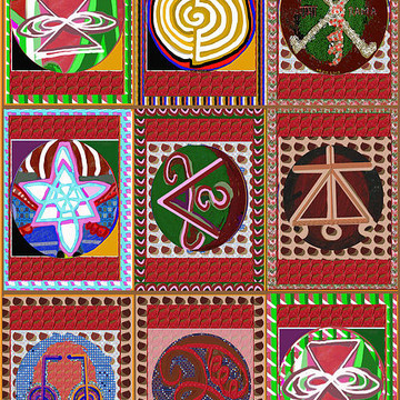 2015 version Reiki  n Karuna Healing Symbols by NavinJoshi  buy or download JPG files Phone Cases Pillows Duvet Cover Tote Bags Greeting Cards Economy in bulk purchase Collection