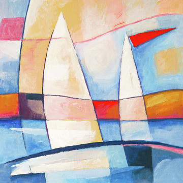 Abstract Sailboats Paintings Collection