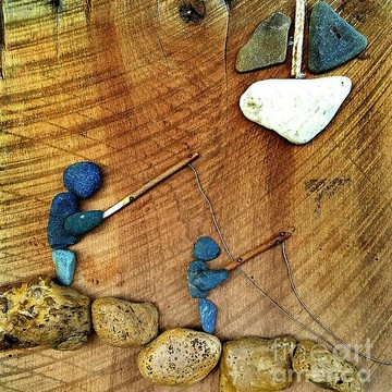 ART - Reclaimed Wood River Rock Collection