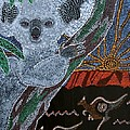 Brightly colored wildlife of Australia expressed through Pointillism Collection