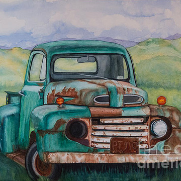 Cars and Pickup Trucks Paintings Collection