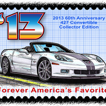 Corvette Postage Stamps Series Collection