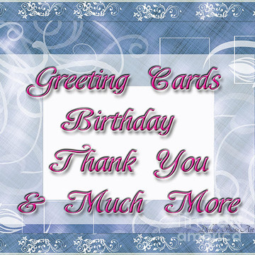 GREETING CARDS - Birthday - Friend - Thank you - etc.  Collection