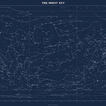 Sky Chart Map of Stars and Constellations Collection