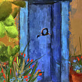 A Blue Door At The Barrio