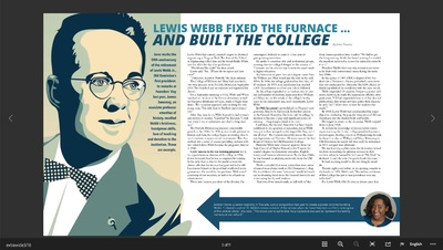 Lewis Webb Fixed The Furnace And Built The College