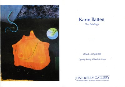 Karin Batten Opening At June Kelly Gallery