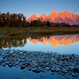 Idaho Scenic Images Linda Lantzy - Tetons Reflected