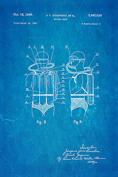 Ian Monk - Cousteau Diving Unit Patent Art 2 1949 Blueprint