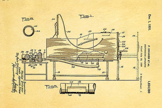 Ian Monk - Drinker Iron Lung Patent Art 1931