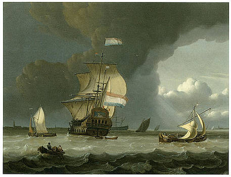 Jan Claesz Rietschoof - Dutch Ships in the Mouth of the Schelde