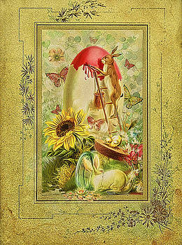 Gynt - Easter greeting card in vintage style