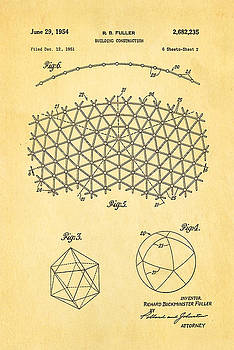 Ian Monk - Fuller Geodesic Dome Patent Art 2 1954