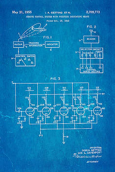 Ian Monk - Getting Global Positioning System GPS Patent Art 1955 Blueprint