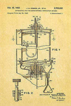 Ian Monk - Gibbon Heart-Lung Machine Patent Art 1955