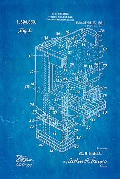 Ian Monk - Herbrick Concrete Building Slab Patent Art 1921 Blueprint