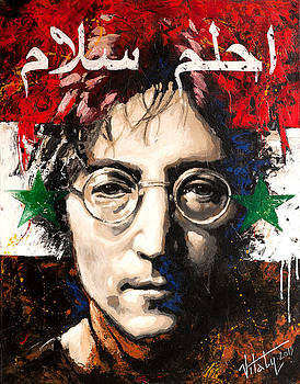Vitaliy Shcherbak - John Lennon. On the Syrian flag