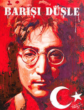 Vitaliy Shcherbak - John Lennon. on the Turkish flag