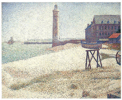 George Seurat - Lighthouse at Honfleur