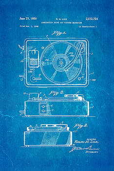 Ian Monk - Like Sound and Picture Player Patent Art 1950 Blueprint