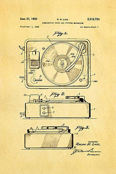 Ian Monk - Like Sound and Picture Player Patent Art 1950