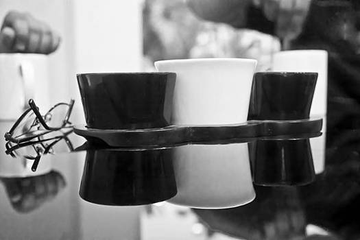 Kantilal Patel - monochrome coffee reflections