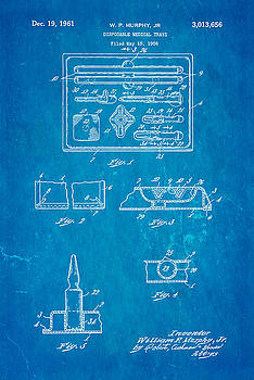 Ian Monk - Murphy Disposable Medical Tray Patent Art 1961 Blueprint