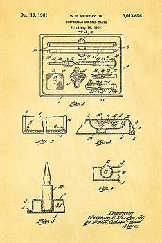 Ian Monk - Murphy Disposable Medical Tray Patent Art 1961