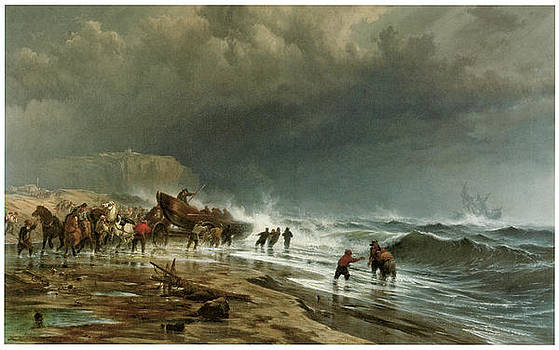 Edward Moran - Rescue Along the Coast