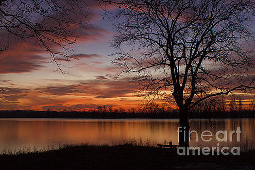 Debra K Roberts - River Side Sunset