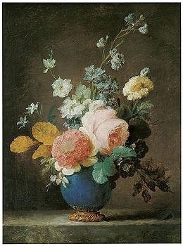 Anne Vallayer-Coster - Roses Ranunculus and other Flowers