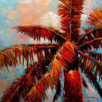 Kanayo Ede - Royal Palms 1 - colorful tropical palms painting