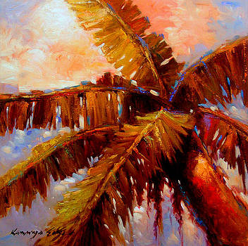 Kanayo Ede - Royal palms 2 - Colorful tropical palms print