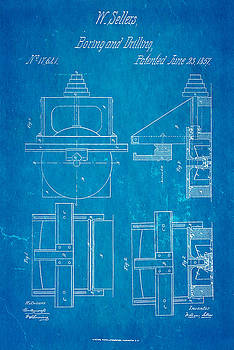 Ian Monk - Sellers Boring Mill Patent Art 1857 Blueprint