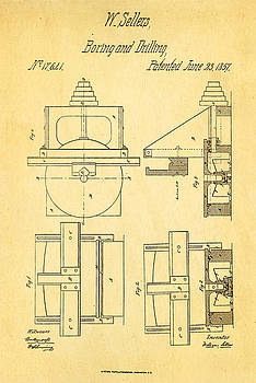 Ian Monk - Sellers Boring Mill Patent Art 1857