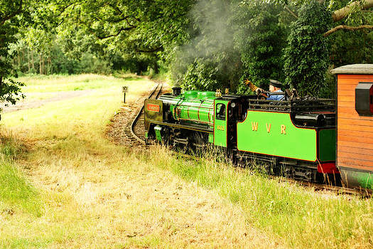 Fizzy Image - steam train into the fields