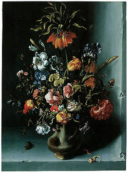 Jacob Woutersz Vosmaer - Still Life of Flowers with a Fritillary