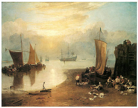 J M W Turner - Sun Rising through Vapour