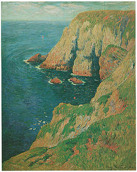 Henry Moret - The Cliffs of Stang Ile de Croix