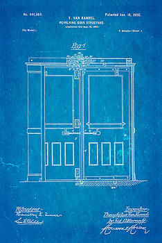 Ian Monk - Van Kannel Revolving Door Patent Art 1900 Blueprint