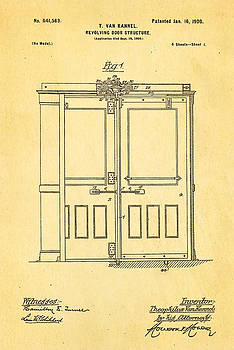 Ian Monk - Van Kannel Revolving Door Patent Art 1900