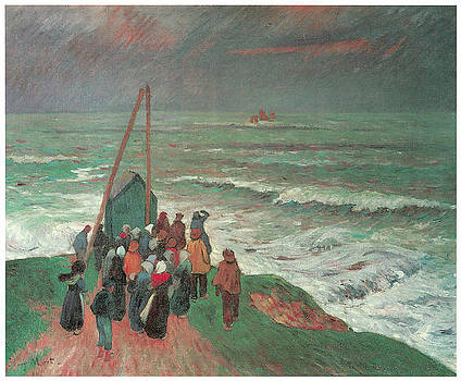 Henry Moret  - Waiting for the Fishermen to Return