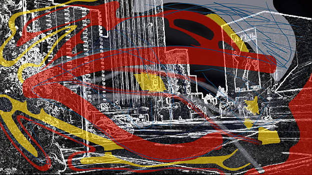 Eleigh Koonce - black white red and yellow in the city