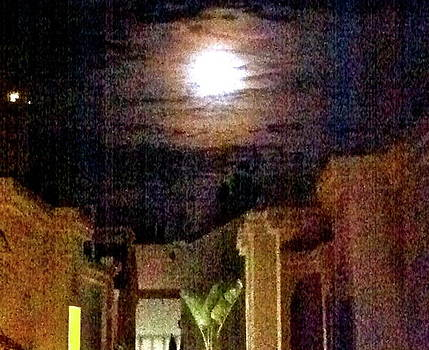 Ruth Edward Anderson - Courtyard Under Full Moon