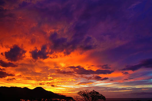 Christine Kapler - Fiery Sunset in Guanacaste Costa Rica