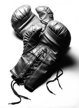 Rebecca Brittain - Boxing Gloves in Black andWhite
