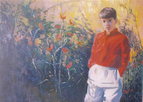 John L Campbell - Boy with Red Shirt