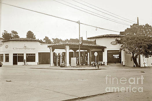 California Views Mr Pat Hathaway Archives - Carmel Garage FORD show room and Chevron Station Ocean Ave. , Circa 1925