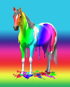 Crista Forest - Colorful Rainbow Paint Horse